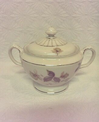 KPM ROYAL IVORY GERMANY SUGAR BOWL DISH & LID