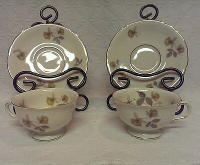 KPM ROYAL IVORY GERMANY SET OF 2 CUPS AND SAUCERS