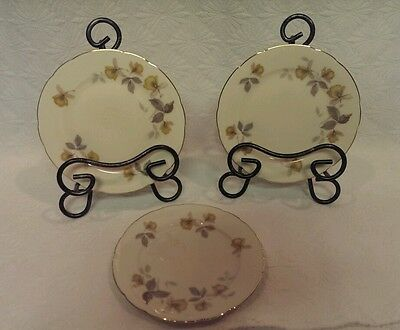 KPM ROYAL IVORY GERMANY SET OF 3 DESSERT BREAD BUTTER PLATES