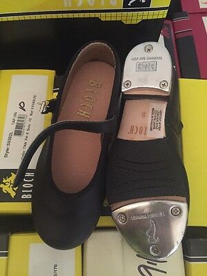 BLOCH TAP DANCE SHOES 302G 302 ** CHILD /Girls ** Tap on  BLACK size 9.5 -- NEW