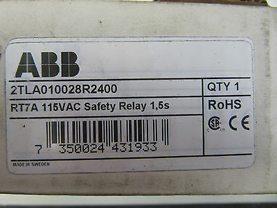 ABB 2TLA010028R2400 Safety Relay RT7A 115VAC NEW!!! in Factory Box Free Shipping