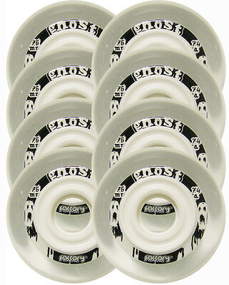76mm 74a Wheels FACTORY GHOST HOCKEY For Inline Skates 8-PACK