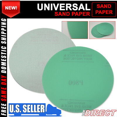 Fit X10 Wet Dry Sand Paper Auto Repair Refinishing Sanding Disc 800 Grit 5 Inch