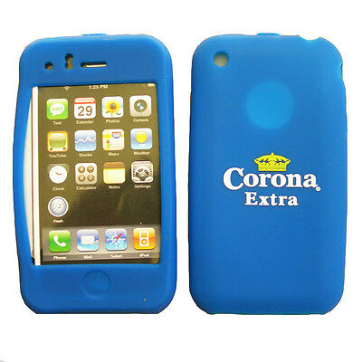 Kit Stock 20 Cover Birra Corona Silicone iPhone 3GS 3G Blu custodia premio festa