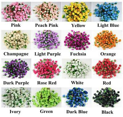 10X50X 100X 500X Roses Artificial Silk Flower Heads Wholesale Lots Wedding Decor