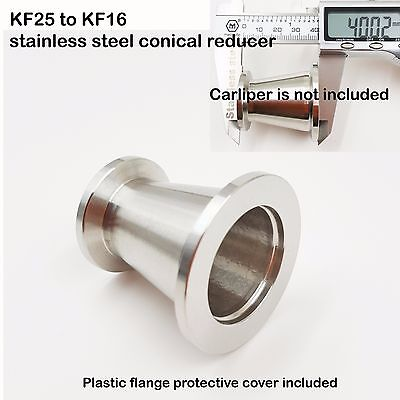 KF25 (NW25) to KF16 (NW16) Conical Reducer, SS304, Vacuum Adapter, Flange
