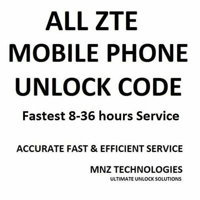 Almost All ZTE Unlock Code Star 2 Grand X Plus Z826 SII S Pro Z812 Zinger Xmax