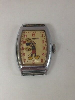 Vintage 1940's Original Ingersoll Disney Mickey Mouse Watch - PRIORITY MAIL