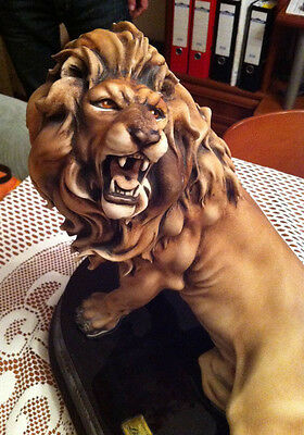 "RARE LARGE ""Lion's Roar"", figurine by Giuseppe Armani LIMITED EDITION"