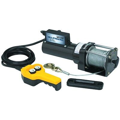 1500 Lb. Capacity 120 Volt AC Remote Controlled Electric Winch Horizontal Pull
