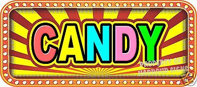 """Candy 18"""" Decal Concession Lettering Food Truck Restaurant Vinyl Menu Stickers"""