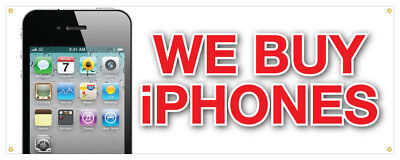 """12/"""" We Buy Cell Phones Sticker Apple Android Smart Phones Retail Store Sign"""