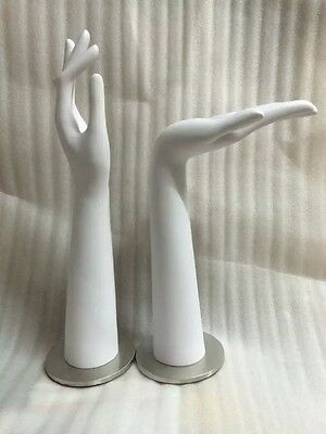 Left And Right One Pair Female Mannequin Hand With Metal Base