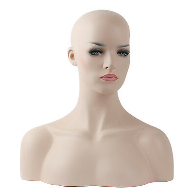 Female Mannequin Head Bust For Wig, Jewelry And Hat Display