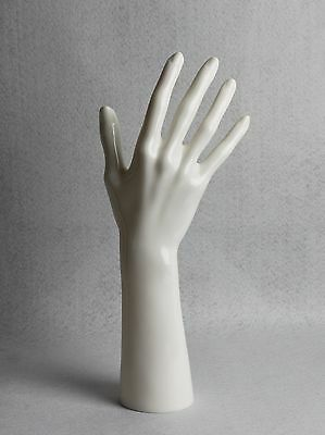 White Right Mannequin Hand for Bracelets Rings Jewelry Stand Display