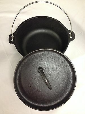 Camp Oven Supex 2.5 Quart Cast Iron Dutch Camp Oven With FREE Carry Bag Camping