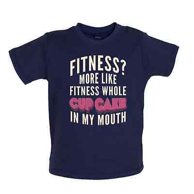 Fitness Cupcake In My Mouth - Baby T-shirt/ Tee - Food / Funny  - 8 Colours