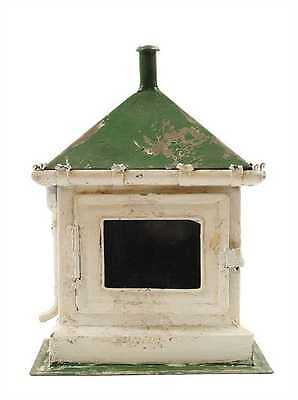 Vintage Reproduction-Shabby~Chippy~Cottage~Green/White Metal Key Box