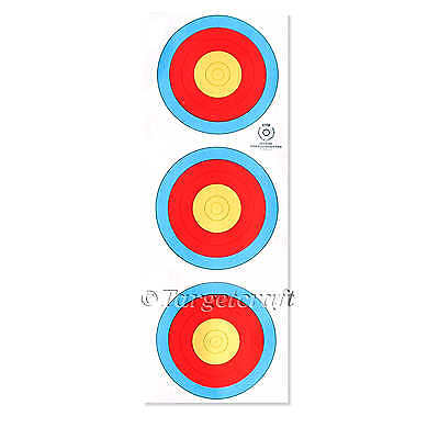 Target faces WA(FITA) 20cm 3 spot heavy reinforced pack/10