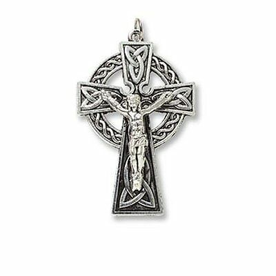 "Lot of 3, 2"" Celtic Cross Crucifix Pendant/Medal for Necklace, Rosary, Bracelet"