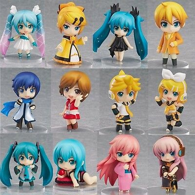 12pcs Anime Hatsune Miku Nendoroid Selection Petite Figure Set New in Box