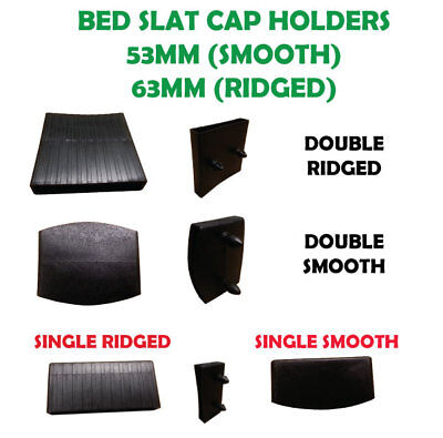 PACK OF PLASTIC SLAT HOLDERS CAPS SINGLE 3'0 DOUBLE 4'6 KING SIZE 63/53 mm
