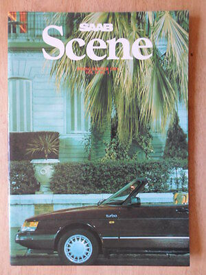 SAAB SCENE Official In-House Magazine Vol 10 No.1 1987 UK Mkt glossy brochure