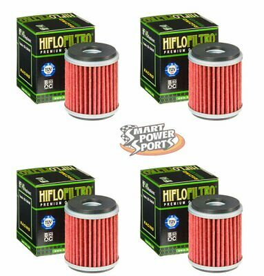 4 Genuine HiFLo HF 140 Oil Filter Fits- Yamaha - YZ250F YZ450F WR XT and More