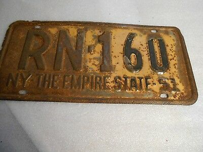 Vintage Collectible 1951 New York Empire State Auto License Plate