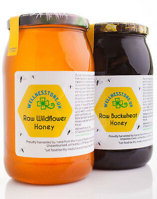 1,3 kg BUCKWHEAT HONEY Pure Natural 2016 Raw ECO Harvest + HIMALAYAN SALT GIFT