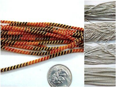 50 Inches - KANGANI SPACER - Smooth Check Rough French Metal Wire Purl Cord Coil