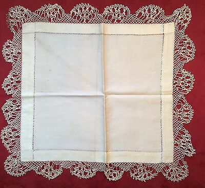 Fabulous Antique All Silk Hankie & Delicate Lace Wedding Exquisite Estate Find