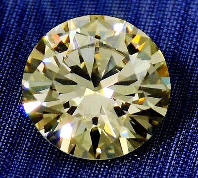 2ct Brilliant Canary Round World's Best Faux Diam. 8mm
