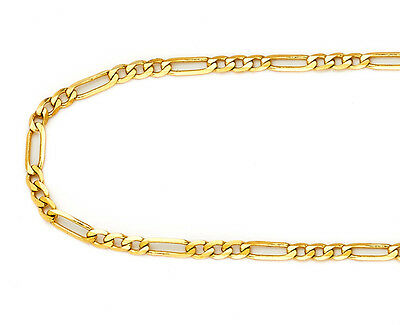 14k Yellow Gold 2mm Italy Figaro Link Chain Necklace 22 Inch New