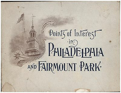 PHILADELPHIA PA SITES OF INTEREST & FAIRMOUNT PARK c1895 SOME PHOTOS J H AVIL