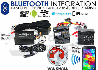 Vauxhall Bluetooth streaming handsfree calls CTAVXBT001 AUX USB iPhone Samsung