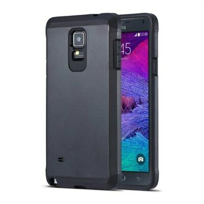 Samsung Galaxy Note 4 TPU Hybrid Armor Case Kombination Hülle Cover Schwarz