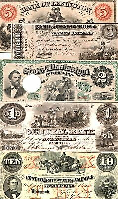 HUGE CURRENCY COLLECTION w SLAVES! 21 DIFF FULL COL REPRINTS @ 5.99! ORIGS AVAIL