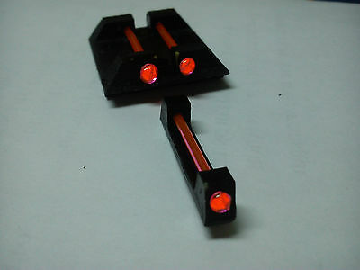 Glow Sight set for glock optic fiber rear front rear g17 dovetail quick aim