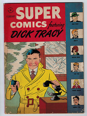 Super Comics #105 5.0 Dick Tracy Off White Pages Golden Age