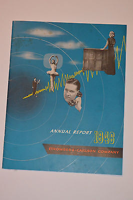 Vintage 1946 Stromberg-Carlson Annual Report! Telephones/radios/phonograph &more