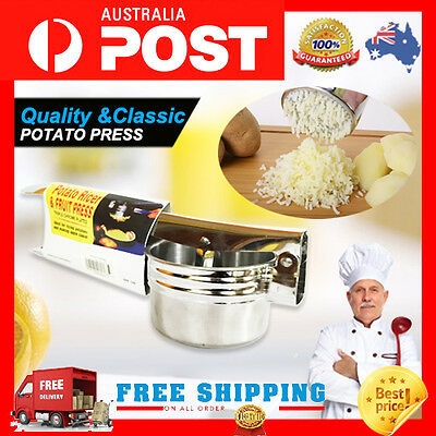 **Kitchen Stainless Potato Ricer Masher Juicer Puree Fruit Vegetable Press Maker