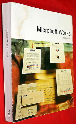 Ibm 1989 Microsoft Works Reference Guide Book 70F0647 Eb0102-200-R00-0689!!