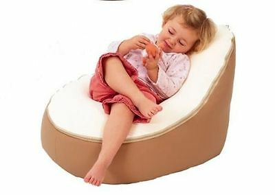 Cute Brown Ivory Seat Baby Beanbag Baby Seat Baby Chair Red Dots Baby Child Bag