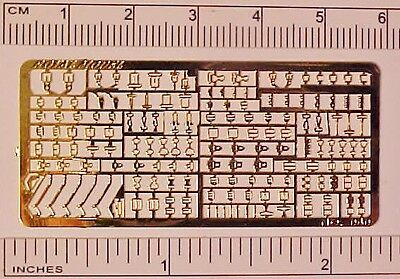 Photo Etched Sheet of 1:32 Model Horse Scale STABLEMATE BUCKLES - Gold Plated