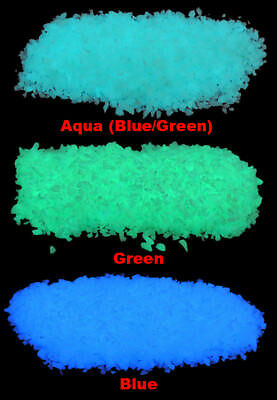 Micro GLOW IN THE DARK Rubble ~ 16oz ~ Aquariums * Fish Tank Gravel ~ Pebbles