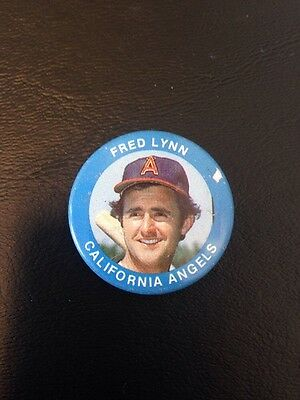 Fred Lynn California Angels Pin-back Button Pin Vintage MLB Collectible!