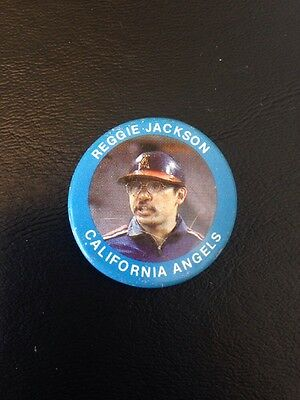 Reggie Jackson California Angels Pin-back Button Pin Vintage MLB Collectible!
