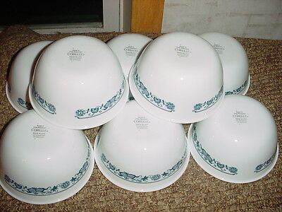 CORELLE OLD TOWN BLUE 12 OUNCE RICE BOWLS x 8 NEW FREE USA SHIPPING