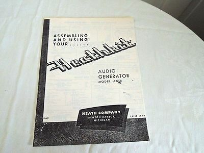 Heathkit Audio Generator Model AG-8 Manual Vintage